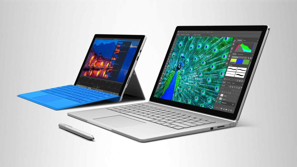 Surface Book et Surface Pro 4