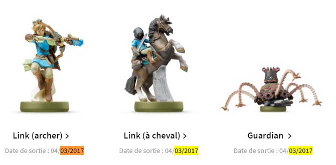 Boutique Figurines Zelda Amiibo